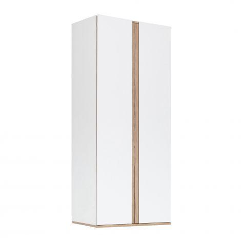 Kleiderschrank Birger 100 cm 2 Türen - weiß