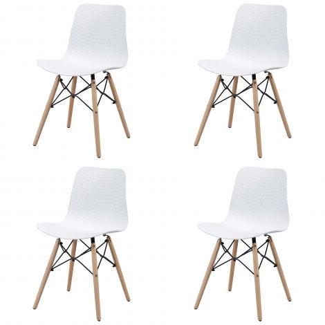 4er-Set Esszimmerstühle Jenna - weiß