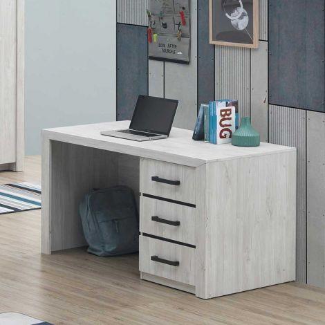 Schreibtisch Elvira 130cm - Eiche weiß