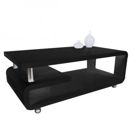 Couchtisch Hakim 115x60 - hochglänzend schwarz