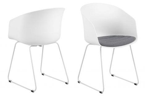 MOON 40 Chair w/white PP+SPY - grey, white - set of 2