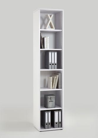 Bücherregal Gabi - 6 Fächer schmal