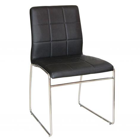 Satz von 2 Stühlen Tine - schwarz