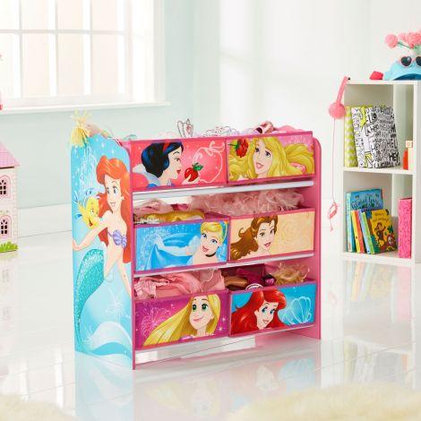 Regal mit 6 Boxen - Disney Princess