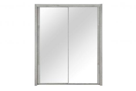 CYRUS - Armoire 2 portes coulissantes 183 Chêne gris clair