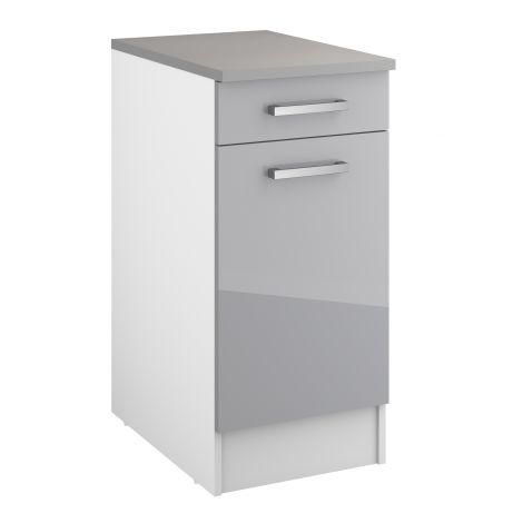 Unterschrank Eli 40 cm mit Schublade und Tür - grau