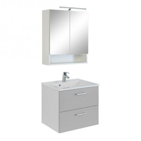 2-teiliger Badschrank Ricca 4 - weiß/hellgrau
