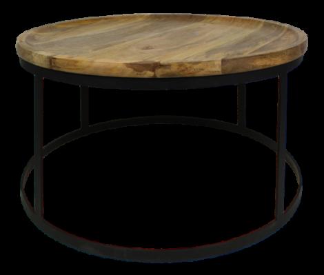 Couchtisch Zen - natur / schwarz - Mangoholz