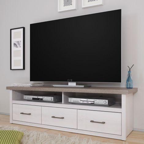 TV-Schrank Larnaca 148cm mit 3 Schubladen - weiß