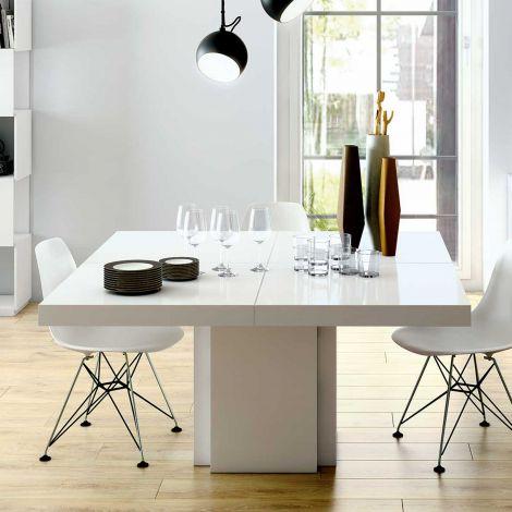 Esstisch Dusk 150x150 - weiß