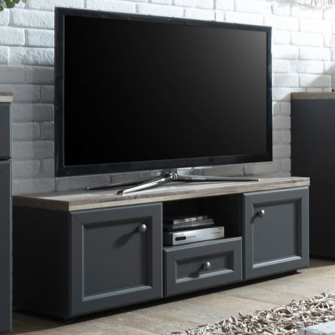 TV-Schrank Norah 122cm - grau/braun