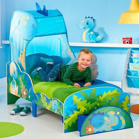 Kleinkind-Himmelbett mit Schublade Happy Dino