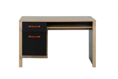 Schreibtisch Liam 122cm mit 1 Schublade und 1 Tür - Artisan Eiche