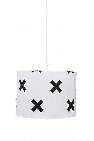 Hängelampe Cross - weiß/schwarz