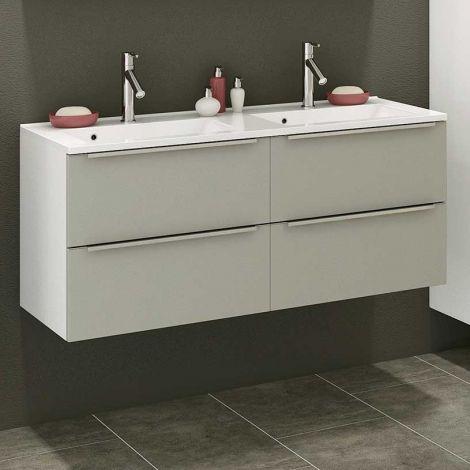 Waschbeckenschrank Hansen 120cm 4 Schubladen - grau/weiß