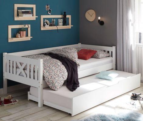 Bettkasten Trever/Leona 90x190 - weiß