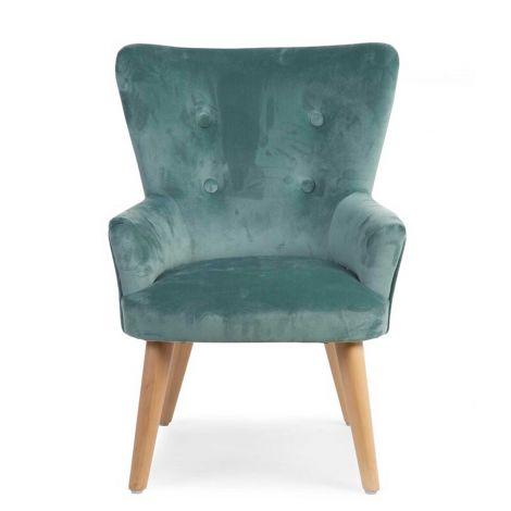 Kleines Sofa 1P Grün Velvet