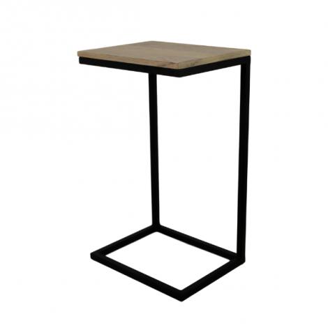 Beistelltisch Read 65cm - Mangoholz/schwarzes Eisen