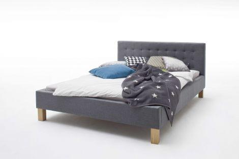 Bett Yes 140x200cm - grau