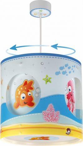Rotierende Hängelampe Aquarium