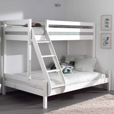 Dreifach-Etagenbett 3-Personen Holz - weiß