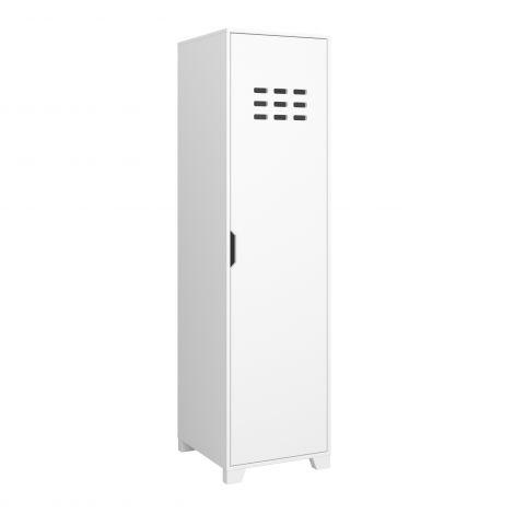 Wardrobe LOKE 117 - Wardrobe with 1 door - EXTRA WHITE