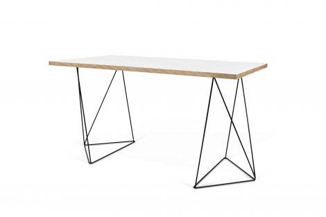 Desk Flo - weiß/schwarze Beine