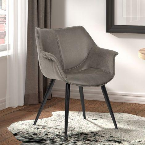 Satz von 2 Stühlen Mailand - grau