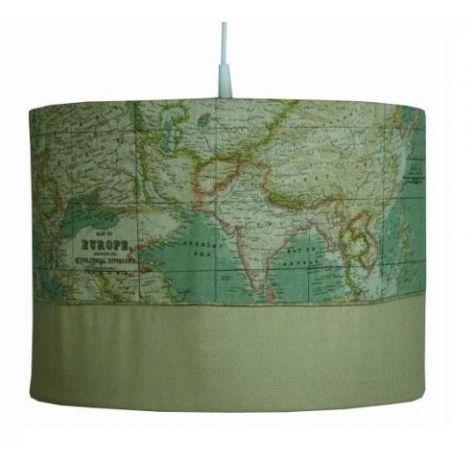 Hängelampe World map