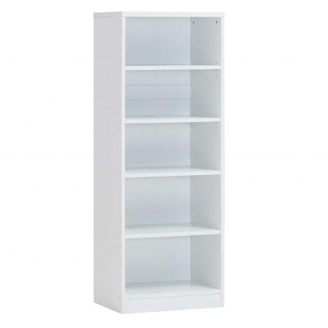 Bücherschrank Spacio 55cm mit 4 Einlegeböden - weiß