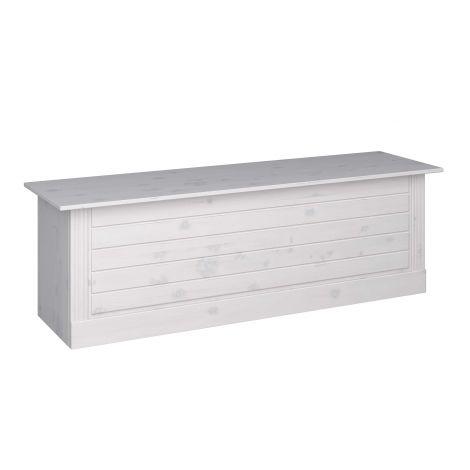 Holz-Dielenbank Edmund 136 cm - weiß
