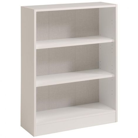 Bücherregal Sophia, weiß - Niedrig, breit