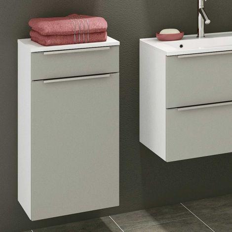 Badezimmerschrank Hansen 40cm 1 Tür und 1 Schublade - grau/weiß