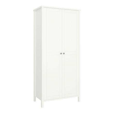 Wardrobe TROMSÖ 101 - Wardrobe closet with 2 doors - WHITE