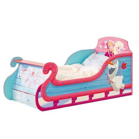 Eiskönigin Schlittenbett für Kinder (70 x 140 cm)