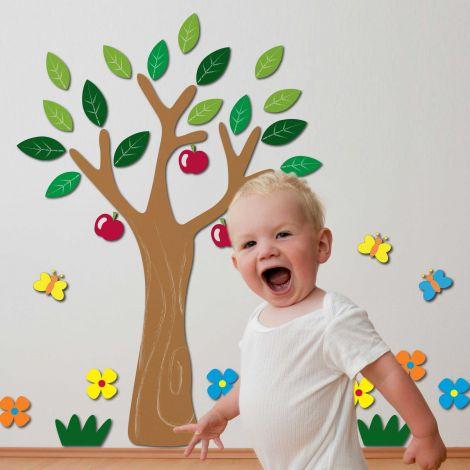 Wandsticker 3D Apfelbaum - Schaumsticker