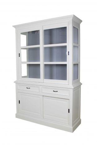 Buffetschrank Provence - 150 cm - weiß / grau