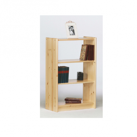 BookcaseAXEL 140 - Bookcase with 2 shelves - NATURAL LACQUER