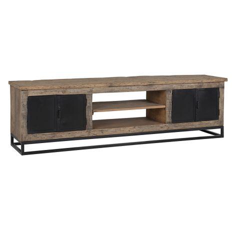 TV-Möbel Raffles 180cm 4 Türen - braun/schwarz