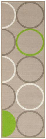 Teppich La Cucina Opty 80x50 Nylon - Beige/Grün