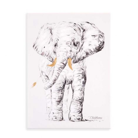 Ölgemälde Elefant 30X40