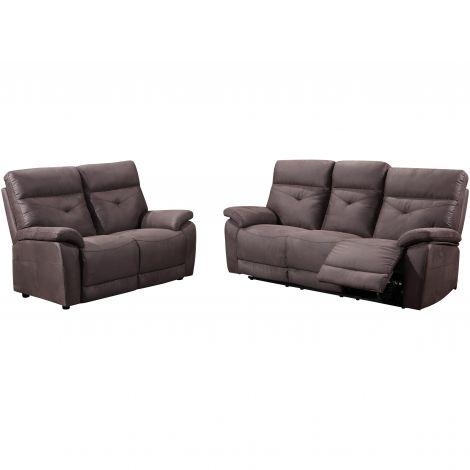 Sofa Set Dax: 3-Sitzer e verstellbar + 2 Sitzer statisch