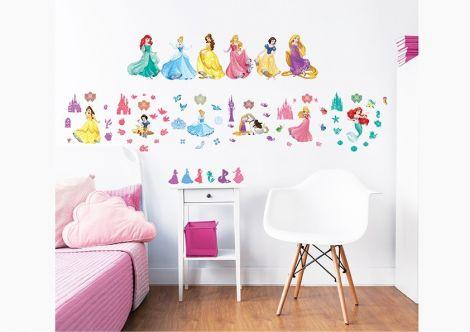 Wandaufkleber Charaktere Disney Prinzessin