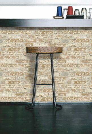 Stuccoed Brown Brick