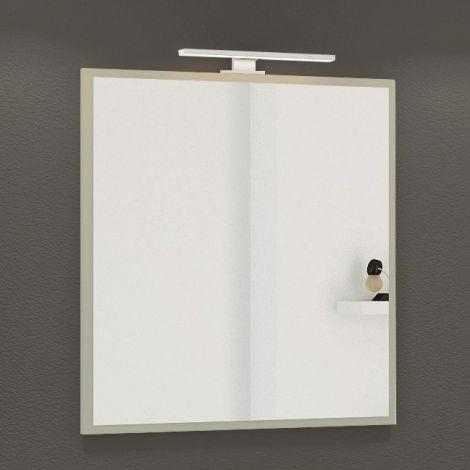 Spiegel Hansen 60cm mit Beleuchtung - grau
