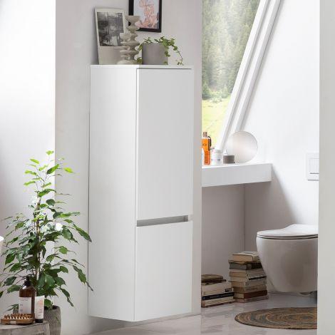 Säulenschrank Kornel/Pisca 40cm 2 Türen - weiß
