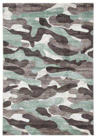 Teppich Camouflage 230x160 Kinder - Grün
