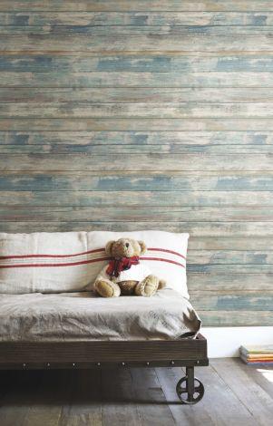Blue Distressed Wood