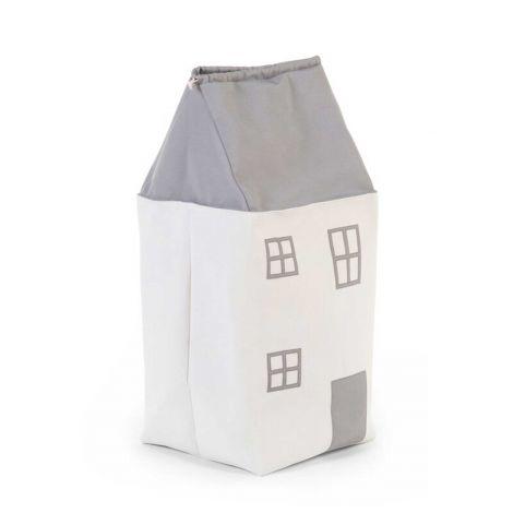 Spielzeug Tasche Haus Grau Ecru