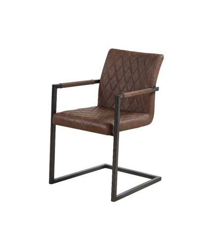 Set mit 2 Stühlen Britt - braun